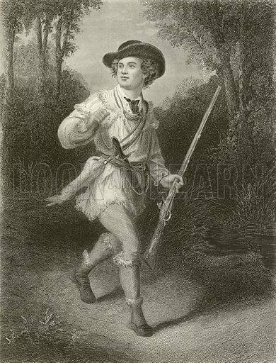 Morgan's Rifleman, South. Illustration for A Pictorial History of the World's Great Nations by Charlotte M Yonge (Selmar Hess, c 1880).