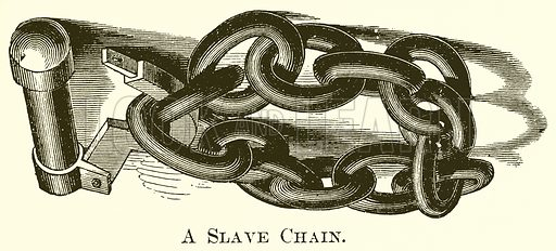 A Slave Chain. Illustration for A Pictorial History of the World's Great Nations by Charlotte M Yonge (Selmar Hess, c 1880).