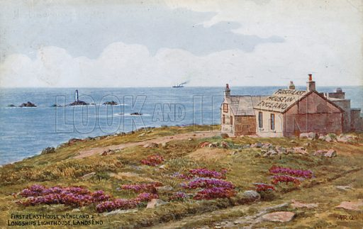 First and Last House in England and Longships Lighthouse, Lands End.