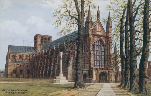 Winchester Cathedral, picture, image, illustration