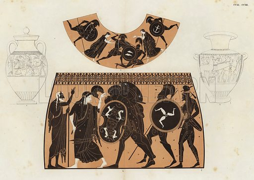 Illustration of Greek vase painting.