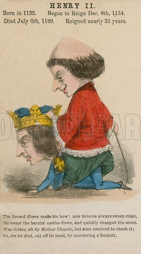 King Henry II. Illustration for Alfred Crowquill's Comic History of the Kings and Queens of England (Read & Co, c 1860).