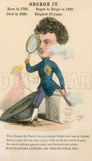 King George IV. Illustration for Alfred Crowquill's Comic History of the Kings and Queens of England (Read & Co, c 1860).