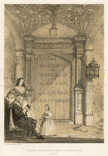 """Doorway, Combe Abbey. Illustration for The Mansions of England in the Olden Time by Joseph Nash, """"carefully reduced and executed in lithography"""" by Samuel Stanesby (Henry Sotheran, 1869–72)."""
