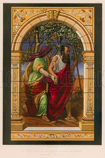 A Stained and Painted Glass Window by Marechal of Metz. Illustration for Masterpieces of Industrial Art & Sculpture at the International Exhibition 1862 (Day & Son, 1863). Large chromolithograph of highest quality.