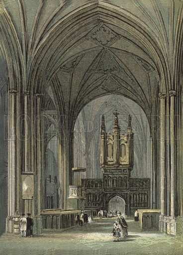 Chester Cathedral, The Lady Chapel. Illustration for Our National Cathedral (Ward Lock, c 1880). Note. Colours not in perfect register; image may not be suitable for enlargement.