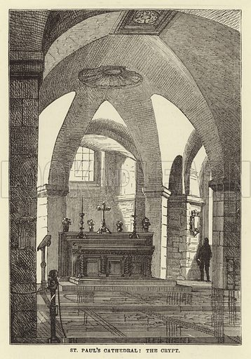 St Paul's Cathedral, the Crypt. Illustration for Our National Cathedral (Ward Lock, c 1880).