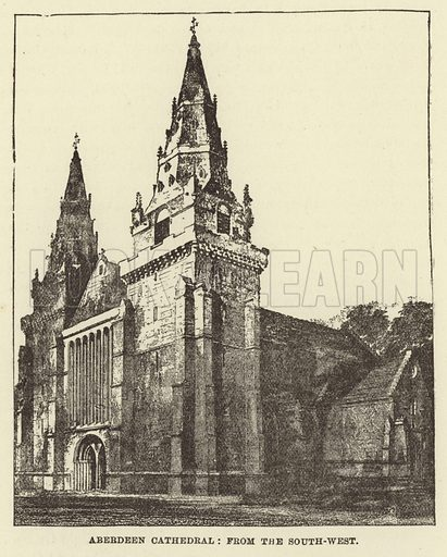 Aberdeen Cathedral, from the South West. Illustration for Our National Cathedral (Ward Lock, c 1880).