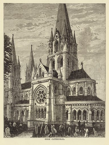 Cork Cathedral. Illustration for Our National Cathedral (Ward Lock, c 1880).
