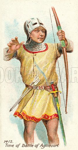 1415, Time of Battle of Agincourt. Cigarette card, early 20th century.
