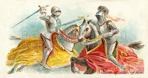 1429, Time of Joan of Arc. Cigarette card, early 20th century.