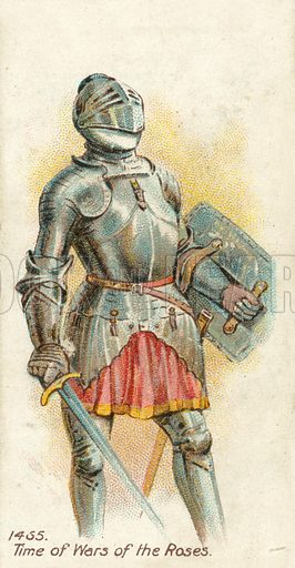 1455, Time of Wars of the Roses. Cigarette card, early 20th century.