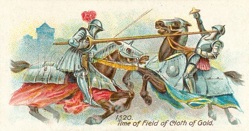 1520, Time of Field of Cloth of Gold. Cigarette card, early 20th century.