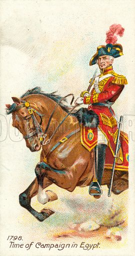1798, Time of Campaign in Egypt. Cigarette card, early 20th century.