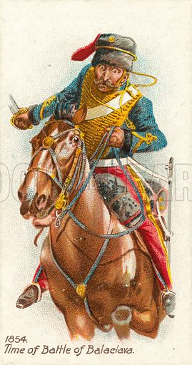 1854, Time of Battle of Balaclava. Cigarette card, early 20th century.