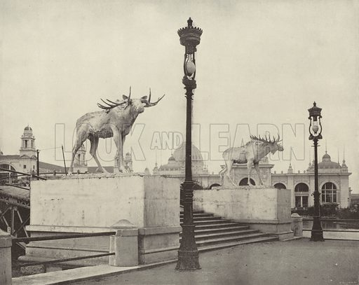 The Moose Bridge. Illustration for The Dream City, A Portfolio of Photographic Views of The World's Columbian Exposition (ND Thompson, 1893).