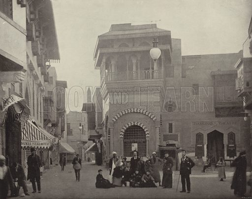 In Cairo Street. Illustration for The Dream City, A Portfolio of Photographic Views of The World's Columbian Exposition (ND Thompson, 1893).