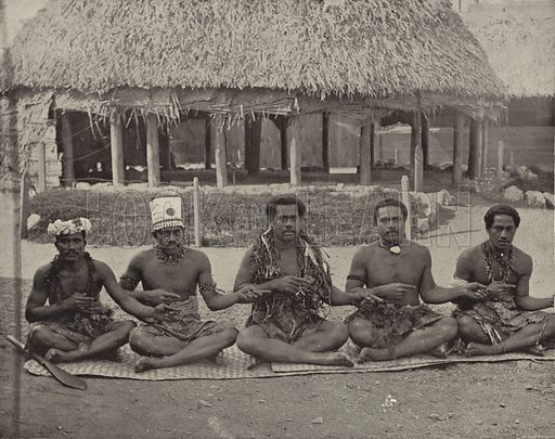 The South Sea Islanders. Illustration for The Dream City, A Portfolio of Photographic Views of The World's Columbian Exposition (ND Thompson, 1893).
