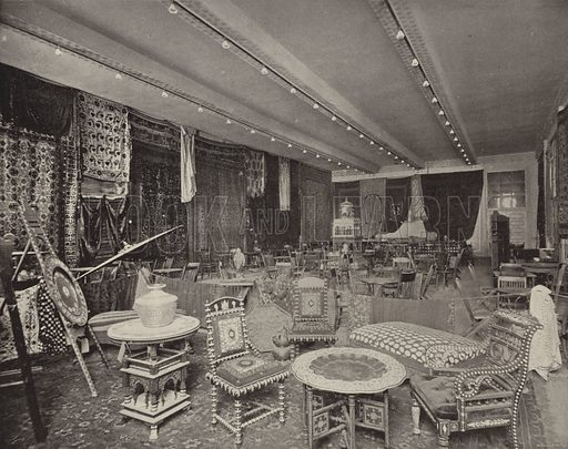 Ceylon Tea Room, Woman's Building. Illustration for The Dream City, A Portfolio of Photographic Views of The World's Columbian Exposition (ND Thompson, 1893).