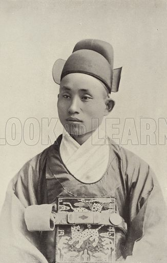 Chinese Female Impersonator. Illustration for The Dream City, A Portfolio of Photographic Views of The World's Columbian Exposition (ND Thompson, 1893).