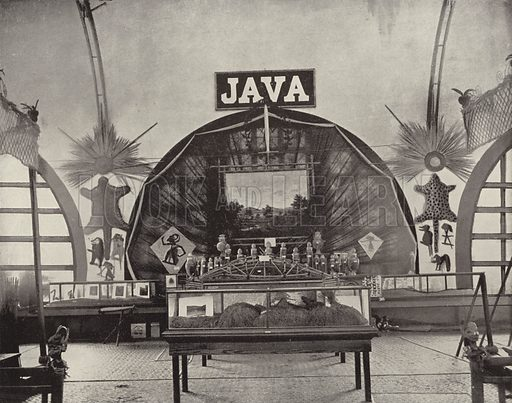 Java's Quaint Exhibit. Illustration for The Dream City, A Portfolio of Photographic Views of The World's Columbian Exposition (ND Thompson, 1893).