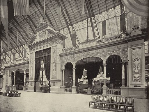 The Belgian Portal and Facade. Illustration for The Dream City, A Portfolio of Photographic Views of The World's Columbian Exposition (ND Thompson, 1893).