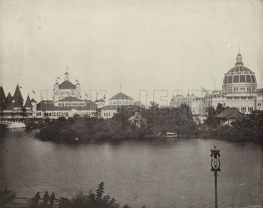 Across Wooded Island, Northeast. Illustration for The Dream City, A Portfolio of Photographic Views of The World's Columbian Exposition (ND Thompson, 1893).