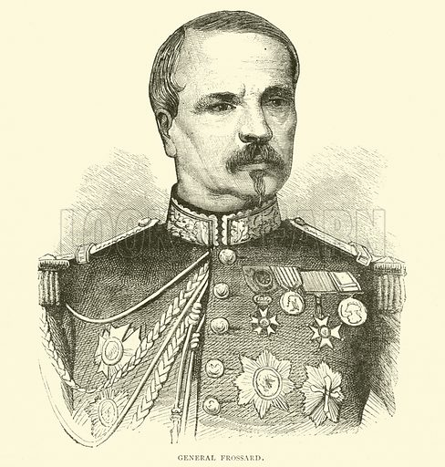 General Frossard, 1870. Illustration for Cassell's History of the War between France and Germany, 1870 to 1871 (Cassell, c 1880).