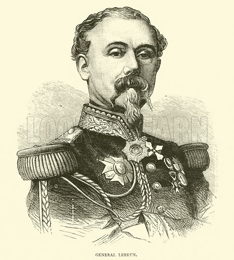 General Lebrun, May 1871. Illustration for Cassell's History of the War between France and Germany, 1870 to 1871 (Cassell, c 1880).