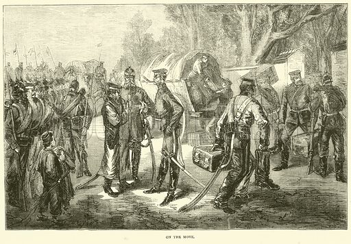 On the move, January 1871. Illustration for Cassell