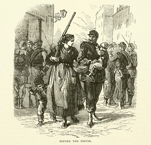Before the Sortie, January 1871. Illustration for Cassell's History of the War between France and Germany, 1870 to 1871 (Cassell, c 1880).