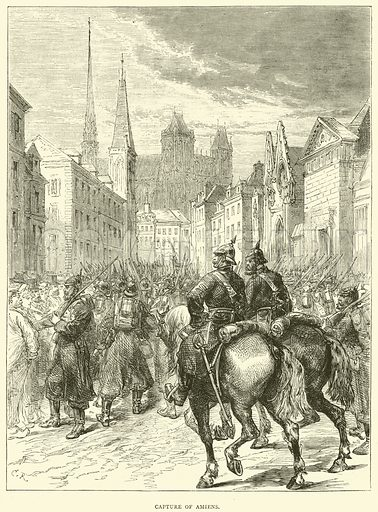 Capture of Amiens, December 1870. Illustration for Cassell's History of the War between France and Germany, 1870 to 1871 (Cassell, c 1880).