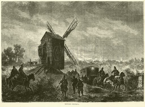 Before Orleans, November 1870. Illustration for Cassell's History of the War between France and Germany, 1870 to 1871 (Cassell, c 1880).