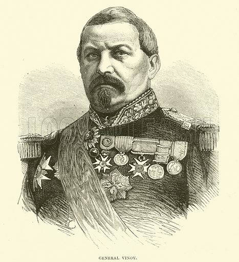 General Vinoy, October 1870. Illustration for Cassell's History of the War between France and Germany, 1870 to 1871 (Cassell, c 1880).