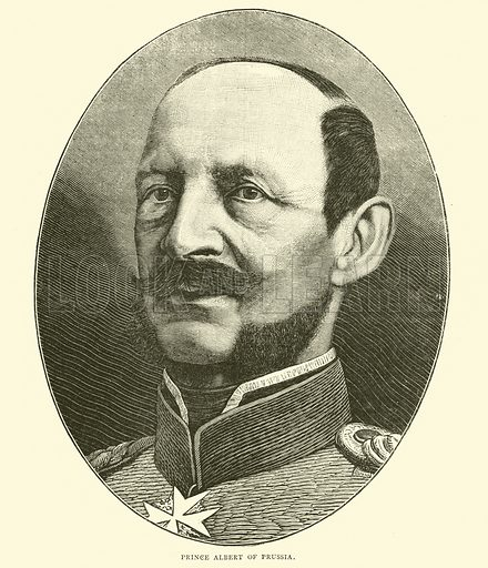 Prince Albert of Prussia, October 1870. Illustration for Cassell's History of the War between France and Germany, 1870 to 1871 (Cassell, c 1880).