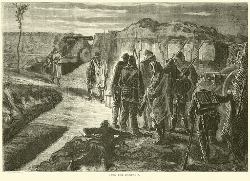 Upon the Ramparts, October 1870. Illustration for Cassell's History of the War between France and Germany, 1870 to 1871 (Cassell, c 1880).