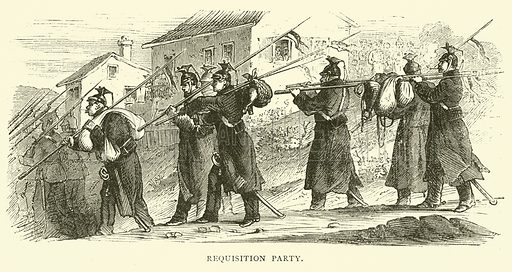 Requisition Party, September 1870. Illustration for Cassell's History of the War between France and Germany, 1870 to 1871 (Cassell, c 1880).