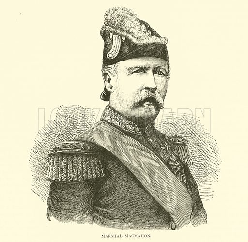 Marshal Macmahon, August 1870. Illustration for Cassell's History of the War between France and Germany, 1870 to 1871 (Cassell, c 1880).