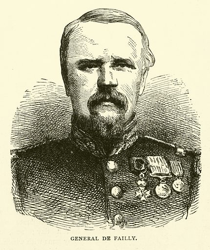 General de Failly, August 1870. Illustration for Cassell's History of the War between France and Germany, 1870 to 1871 (Cassell, c 1880).
