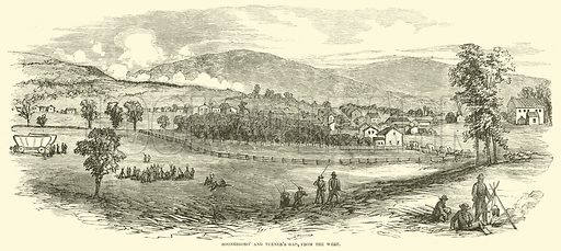 Boonesboro' and Turner's Gap, from the West, September 1862. Illustration for Harper's Pictorial History of the Civil War (McDonnell Bros, 1886).
