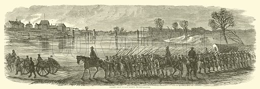 Sumner's Grand Division crossing the Rappahannock, December 1862. Illustration for Harper's Pictorial History of the Civil War (McDonnell Bros, 1886).