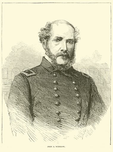 John A Winslow, January 1863. Illustration for Harper's Pictorial History of the Civil War (McDonnell Bros, 1886).