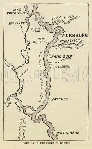The Lake Providence Route, March 1863. Illustration for Harper's Pictorial History of the Civil War (McDonnell Bros, 1886).