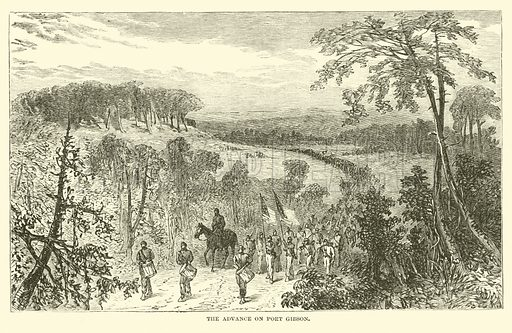 The advance on Port Gibson, April 1863. Illustration for Harper's Pictorial History of the Civil War (McDonnell Bros, 1886).