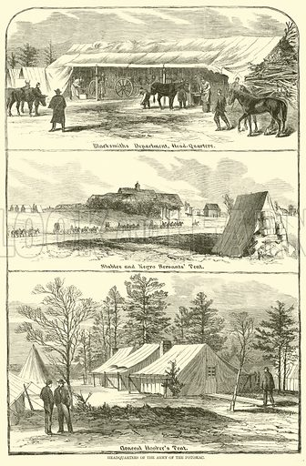 Headquarters of the Army of the Potomac, January-April 1863. Illustration for Harper's Pictorial History of the Civil War (McDonnell Bros, 1886).