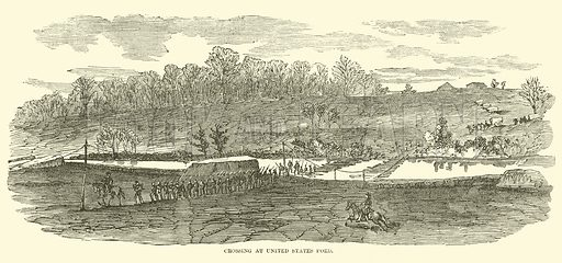 Crossing at United States Ford, January-April 1863. Illustration for Harper's Pictorial History of the Civil War (McDonnell Bros, 1886).