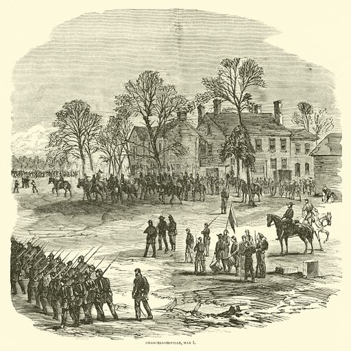 Chancellorsville, May 1, May 1863. Illustration for Harper's Pictorial History of the Civil War (McDonnell Bros, 1886).