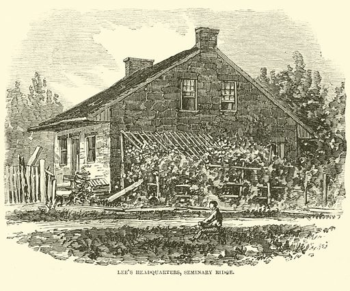 Lee's Headquarters, Seminary Ridge, July 1863. Illustration for Harper's Pictorial History of the Civil War (McDonnell Bros, 1886).