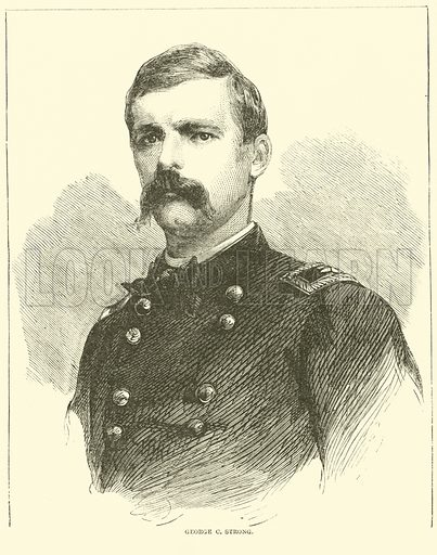 George C Strong, July 1863. Illustration for Harper's Pictorial History of the Civil War (McDonnell Bros, 1886).
