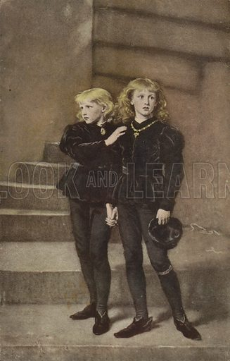 The Two Princes Edward and Richard in the Tower, 1483, by Sir John Everett Millais, 1878.